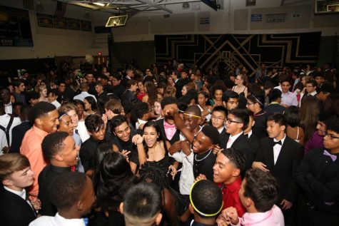 Lancers enjoy their time inside the homecoming dance while others are locked outside due to unfortunate illness.