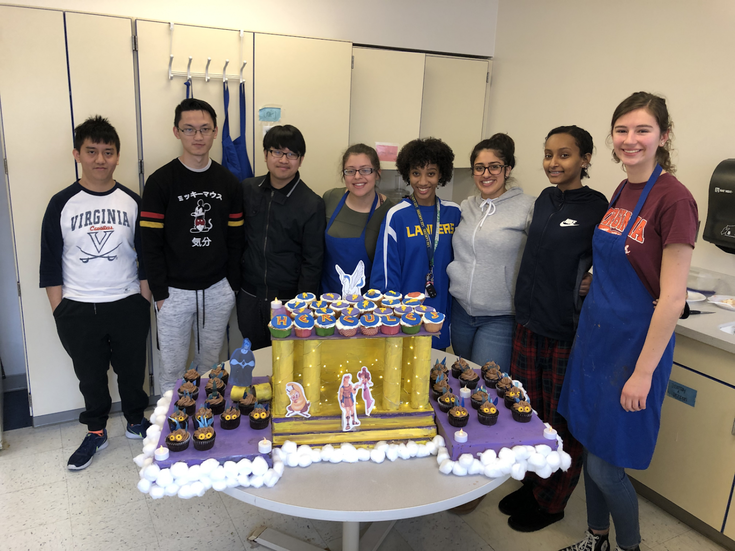 A Herculean feat: Soos' third period students collaborated with Guginno's STEM students.