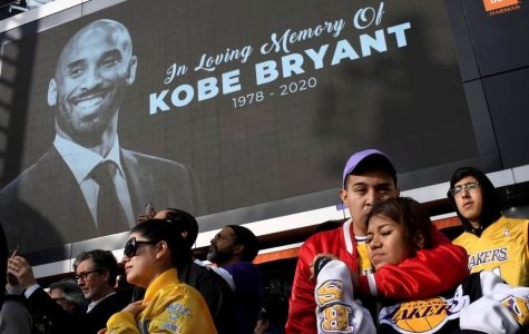 Final Farewell: Kobe Bryant fans gather outside the Staples Center to pay their respects to NBA legend.