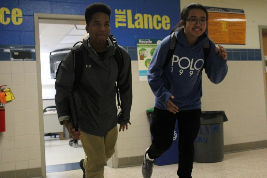 In the pre-pandemic school days of 2019, students like current juniors Josias Abera and Jeremy Medina would rush to class to avoid the tardy station.